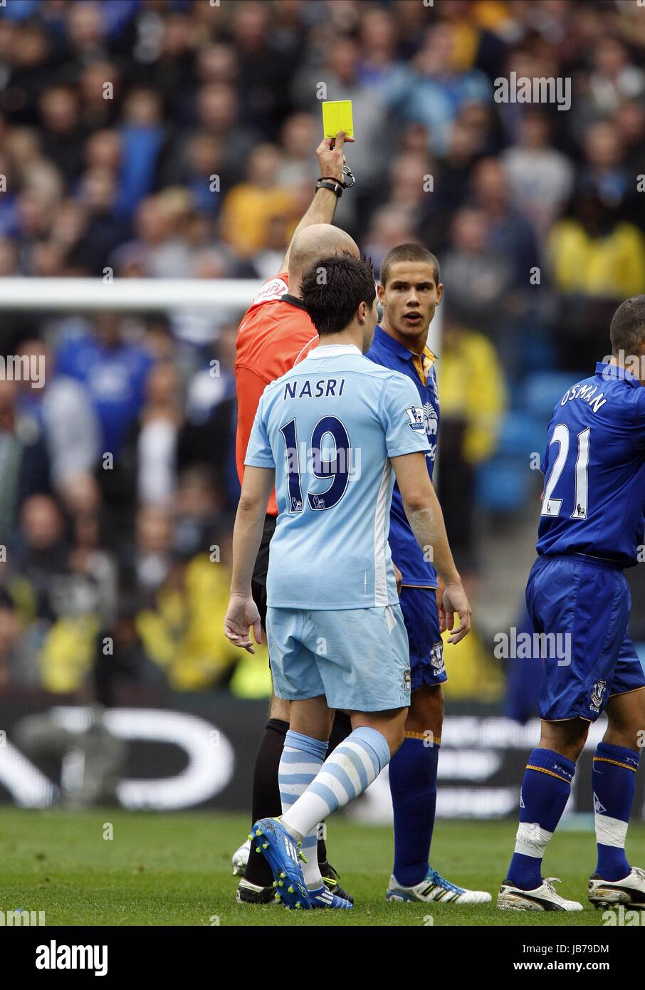 JACK RODWELL GETS BOOKED FOR N MANCHESTER CITY V EVERTON ...