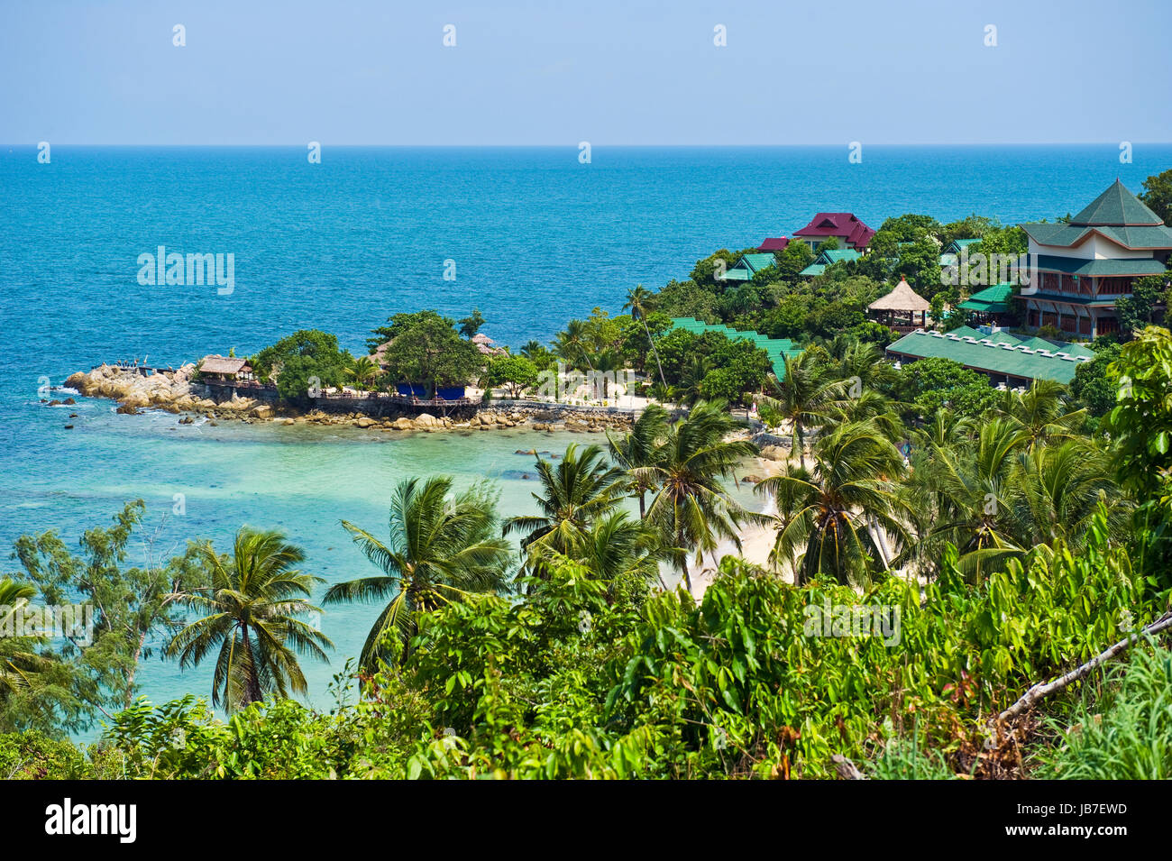 Beautiful tropical beach, Thailand - Stock Image