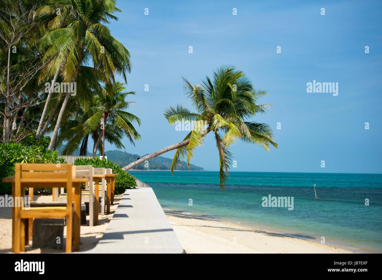 Restaurant on the beach - Stock Image