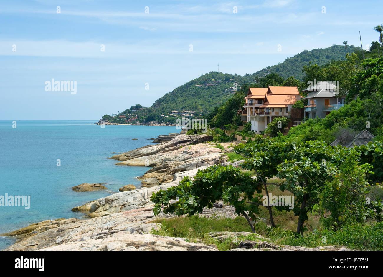 Beautiful tropical beach, Thailand, Lamai beach - Stock Image