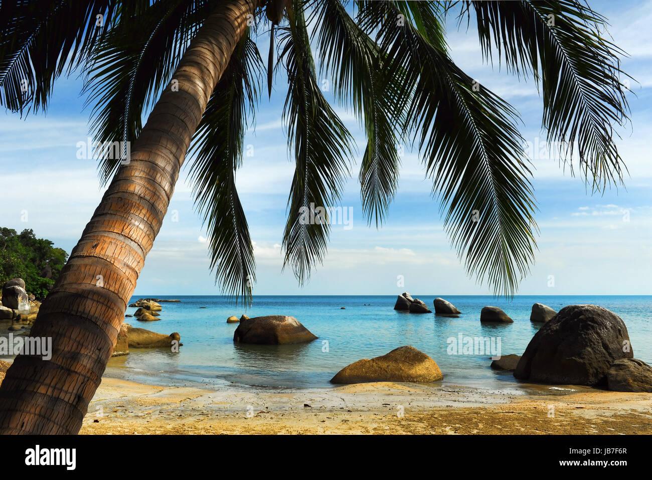 Tropical beach, Thailand - Stock Image