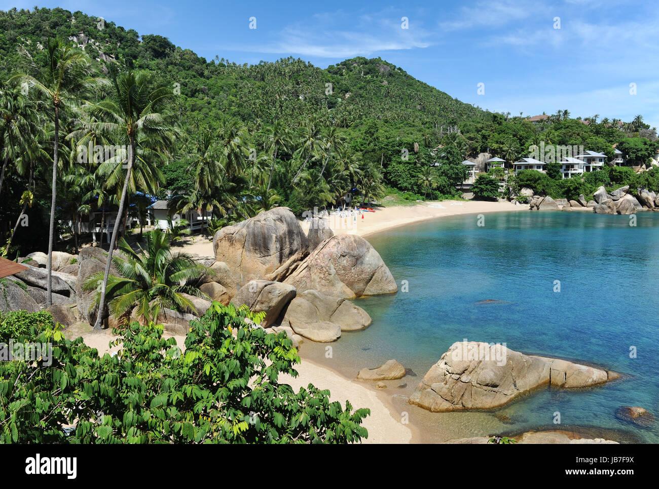 Lamai beach, Thailand - Stock Image