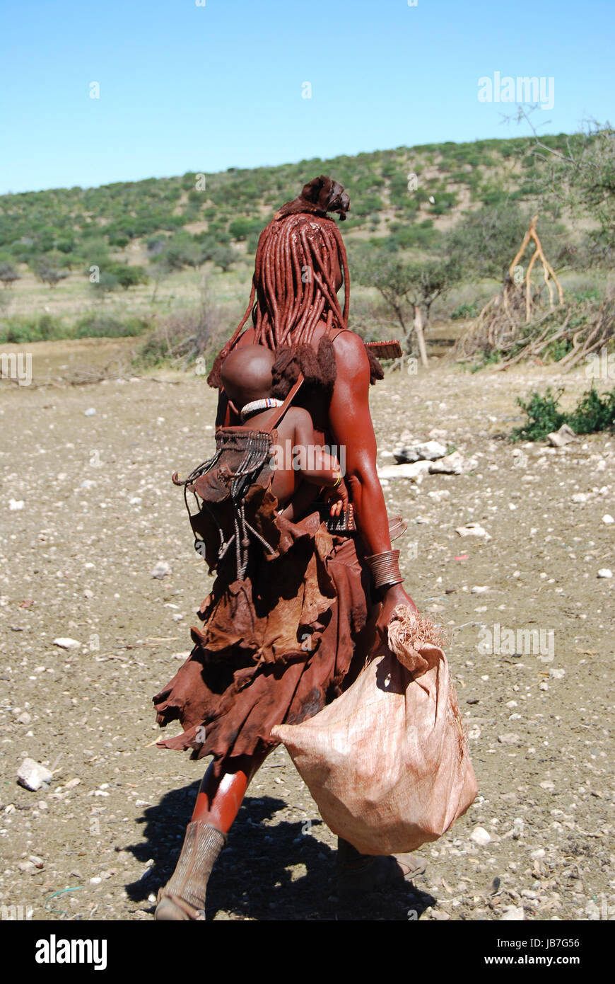 Himba is a county in the north-central portion of the West African nation of Liberia. One of 15 counties that comprise - Stock Image