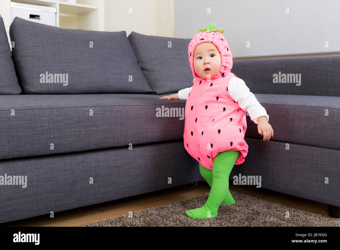 Asia baby with strawberry costume in halloween party  sc 1 st  Alamy & Asia baby with strawberry costume in halloween party Stock Photo ...