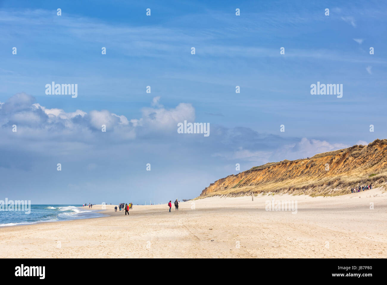 North Sea beach at Kampen, Sylt, with Rotes Kliff dunes - Stock Image