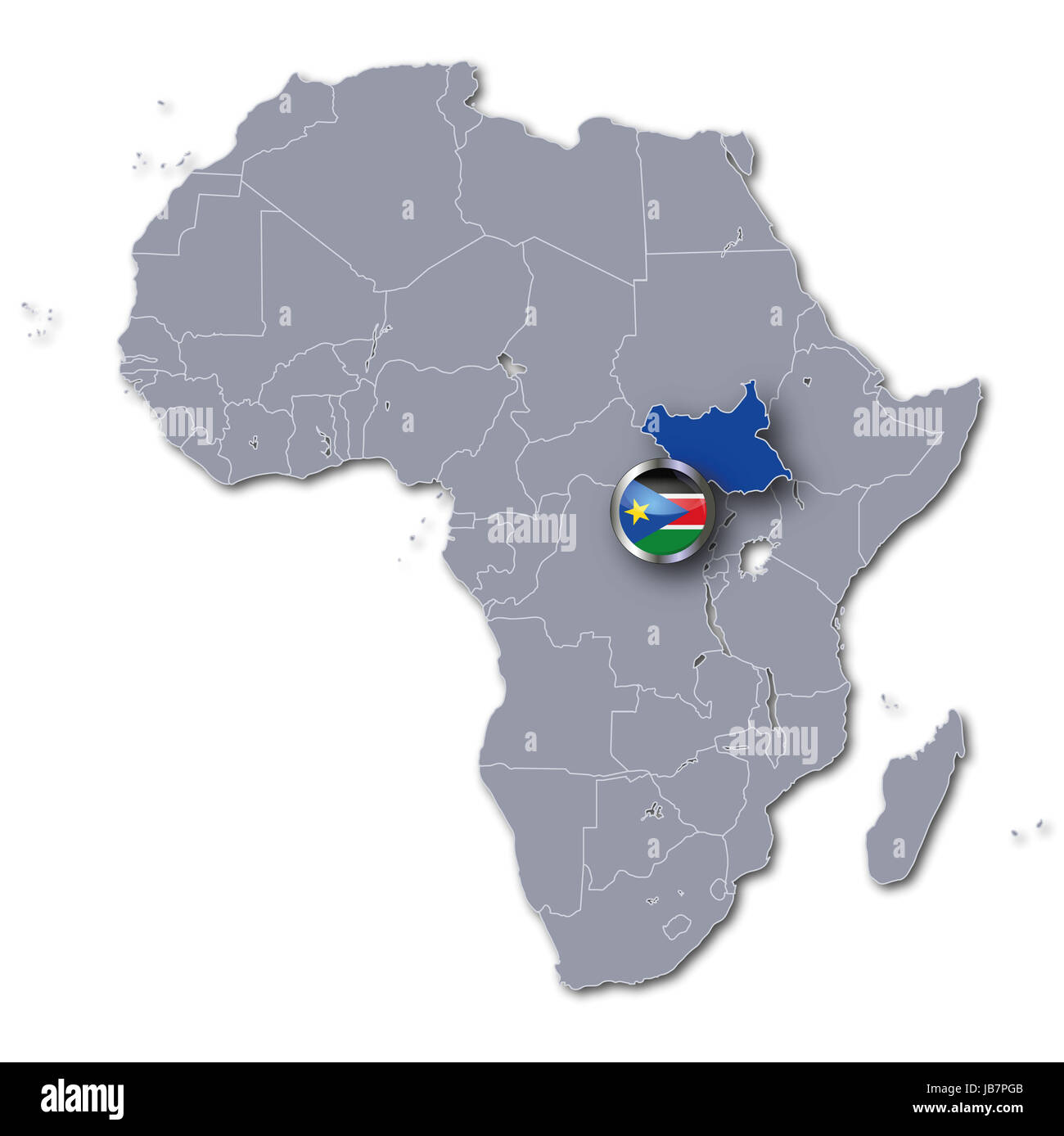 south sudan africa map Africa Map Of South Sudan Stock Photo Alamy