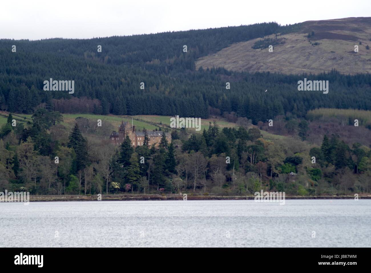 Brodrick Castle and Estate. Brodrick Bay, Isle of Arran, April, 2017. - Stock Image