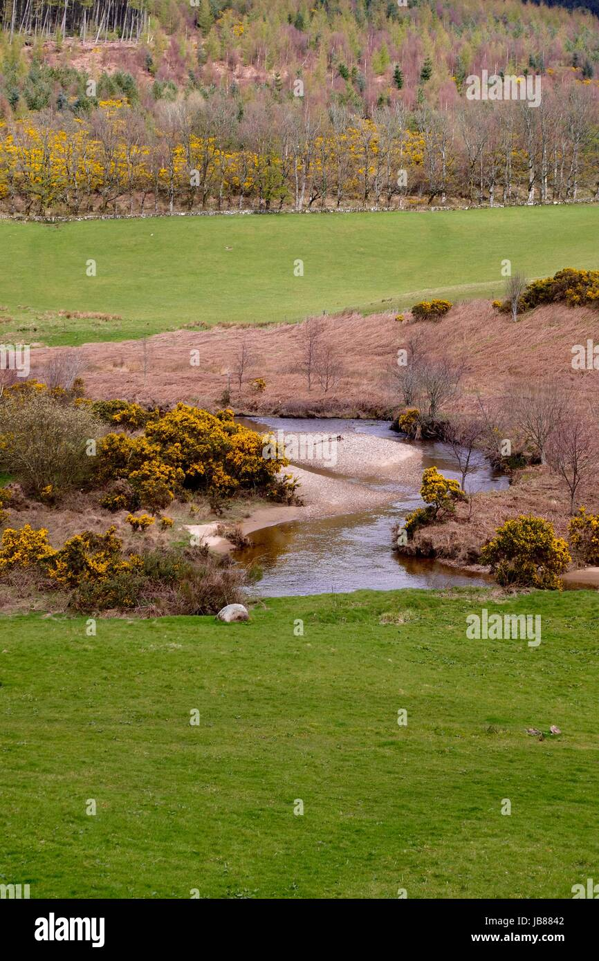Glenrosa Water Brook, Campsite, Scenic View. Isle of Arran, Scotland. April 2017. - Stock Image