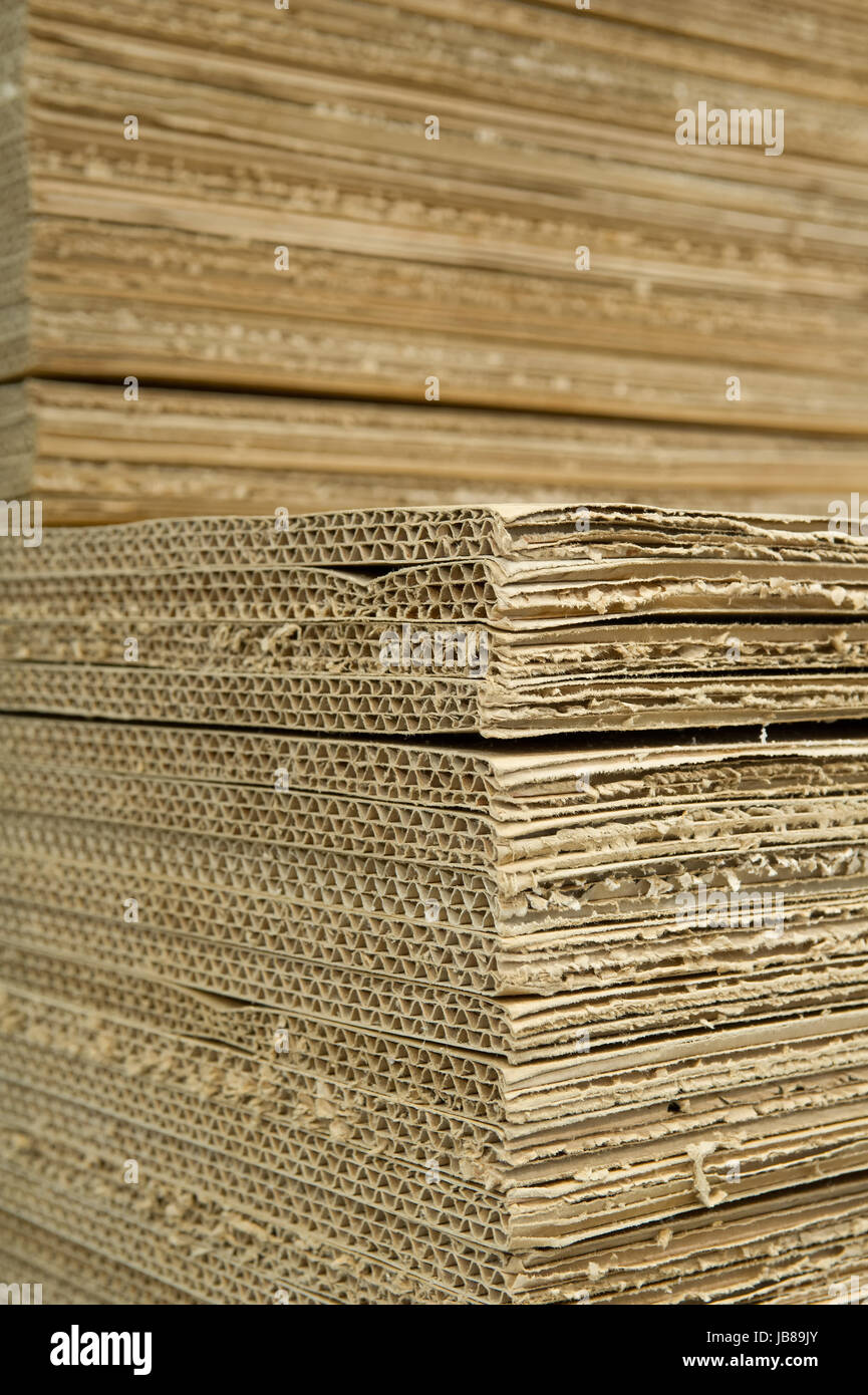 Wellpappe corrugated cardboard Stock Photo