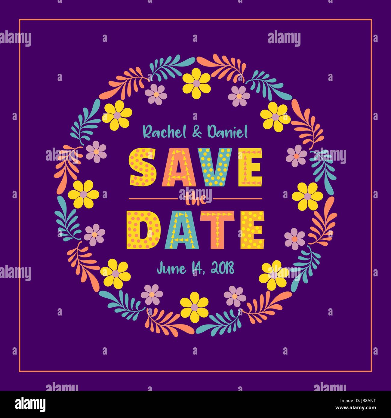 Save The Date Card Template Marriage Day Announcement