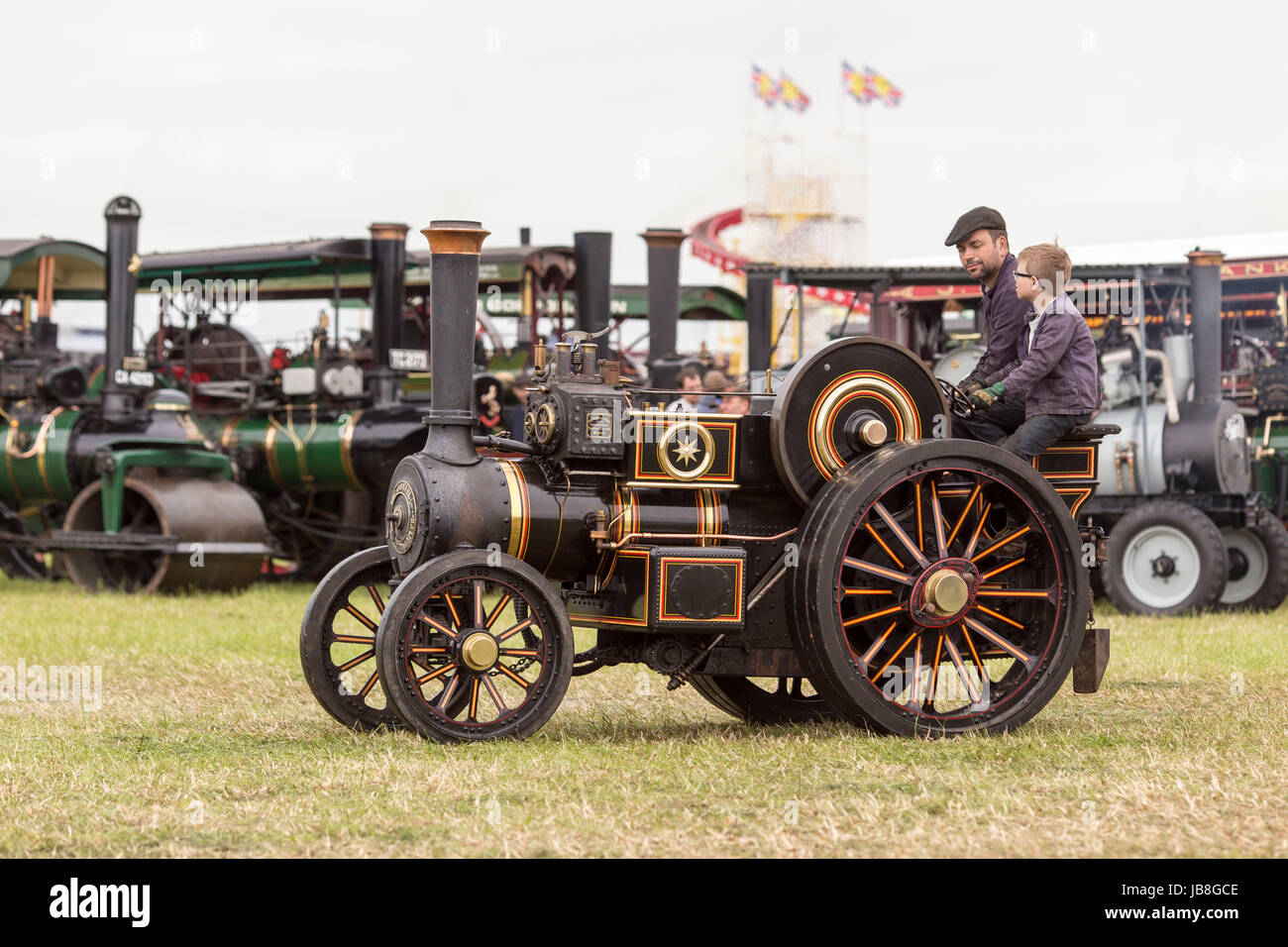 Ashley Hall Traction Engine Rally today (Monday 29th May 2017). The rally , hosted at Ashley Hall for the third - Stock Image