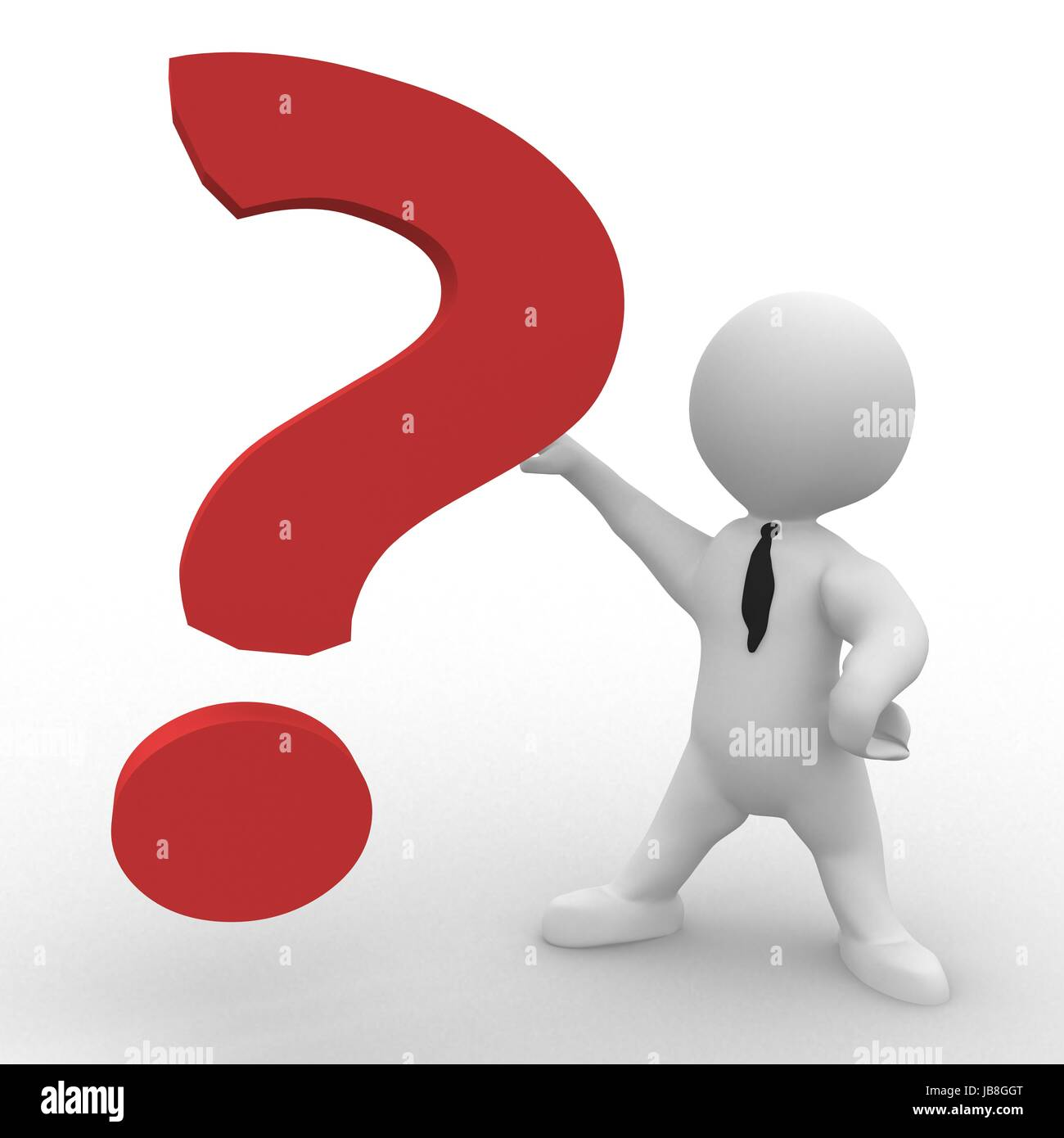 Smart figure has a question - Stock Image