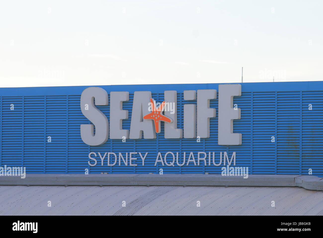 Sea Life aquarium in Sydney Australia. Sea Life aquarium is one of the most popular tourist attractions in Sydney. - Stock Image