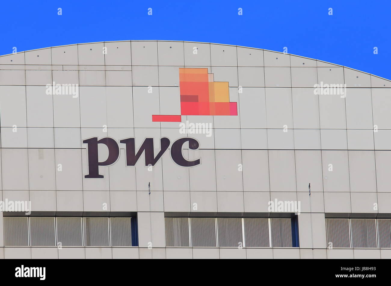 PwC. PwC the second largest professional services firm in the world headquartered in London. - Stock Image