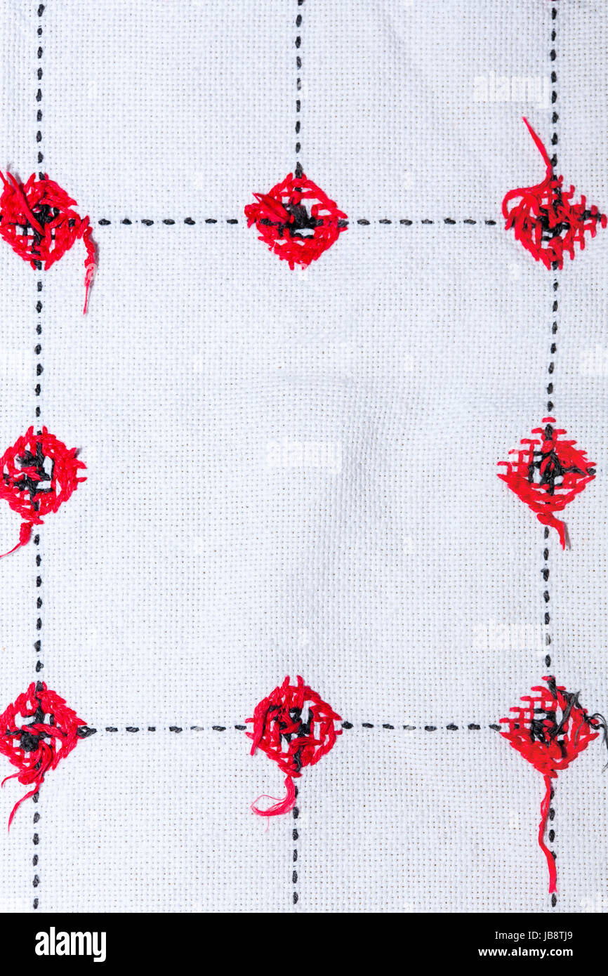 Background With Embroidery Types Of Embroidery Stock Photo