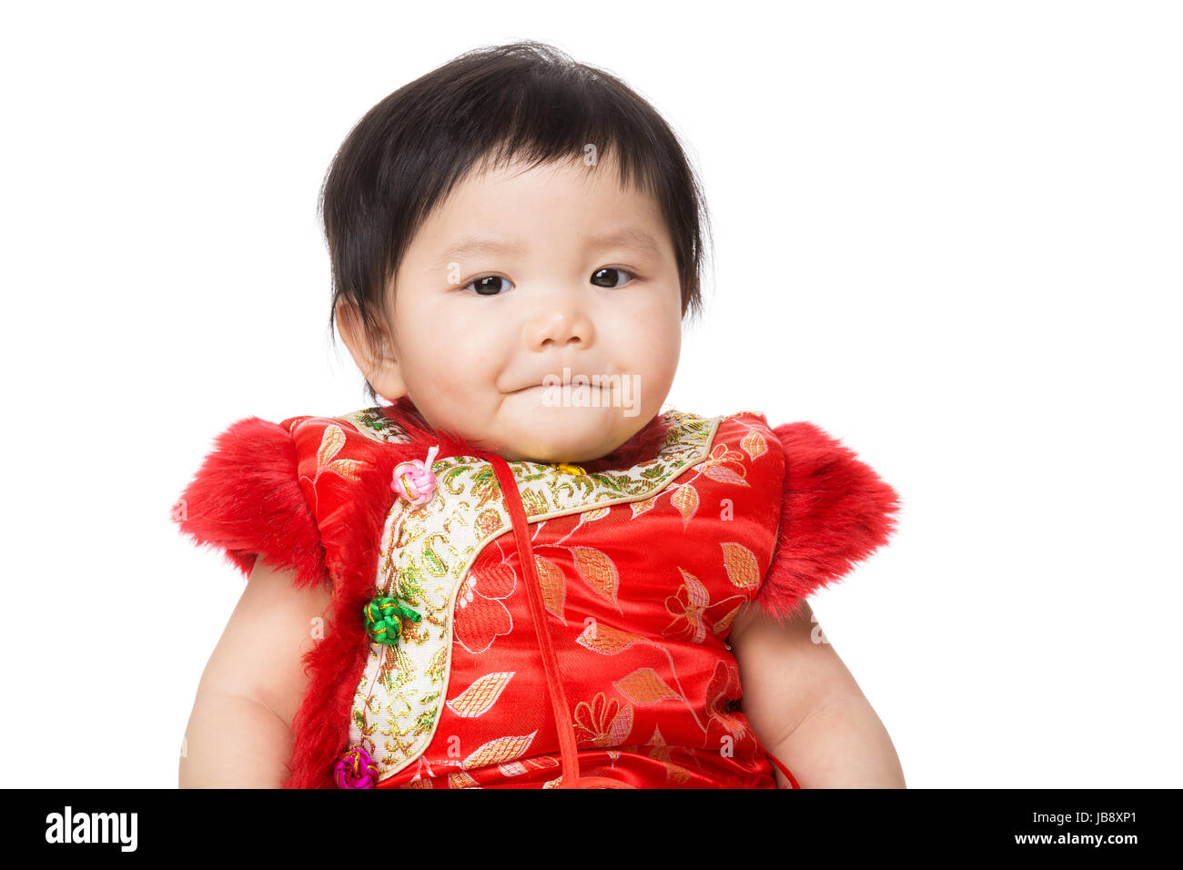 1d4c1f308 Chinese baby girl with traditional costume for new year Stock Photo ...