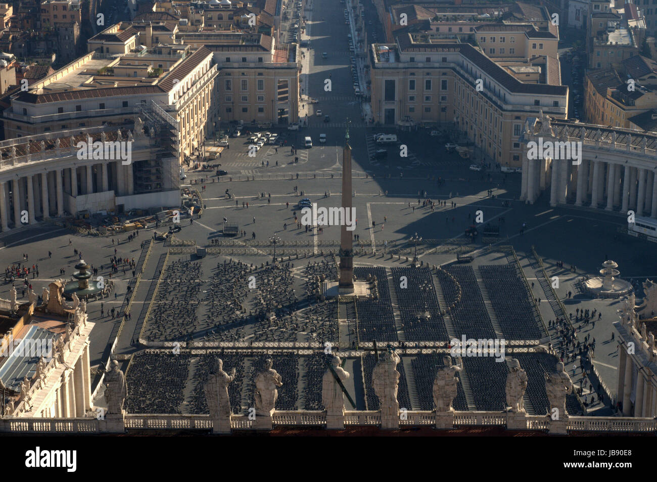 st peter square on wednesday Stock Photo