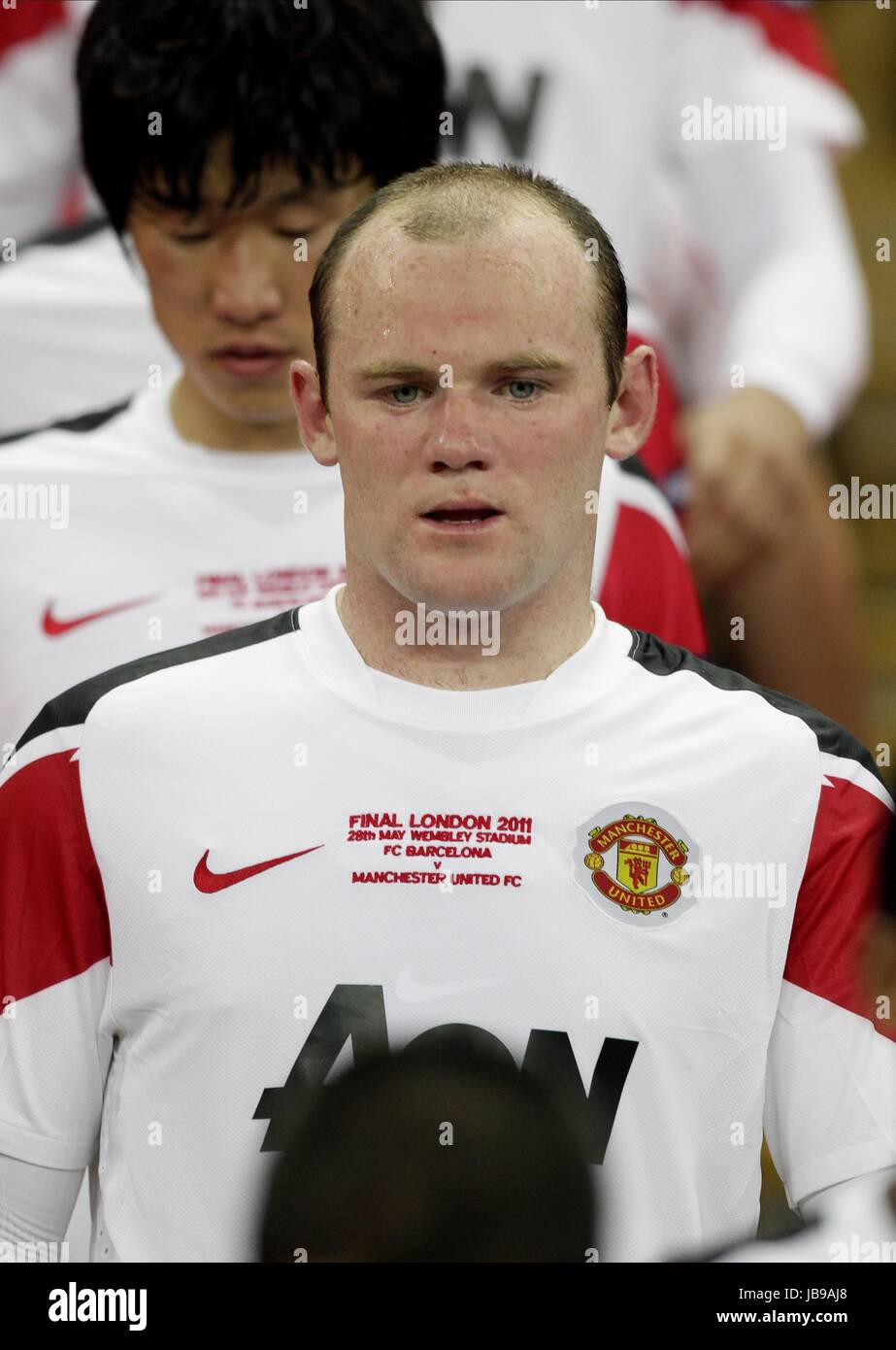 A TEARFUL WAYNE ROONEY, FC BARCELONA V MANCHESTER UTD, UEFA CHAMPIONS LEAGUE FINAL 2011, 2011 Stock Photo