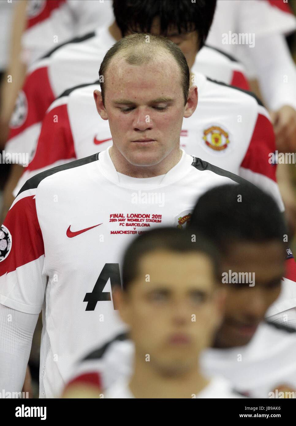A TEARFUL WAYNE ROONEY, FC BARCELONA V MANCHESTER UTD, UEFA CHAMPIONS LEAGUE FINAL 2011, 2011 - Stock Image
