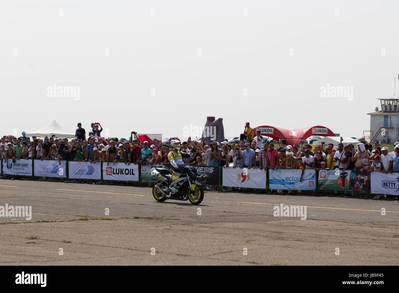 BMW Festival in Chisinau Republic of Moldova July 30 2016. Motorbike show Attila. - Stock Image