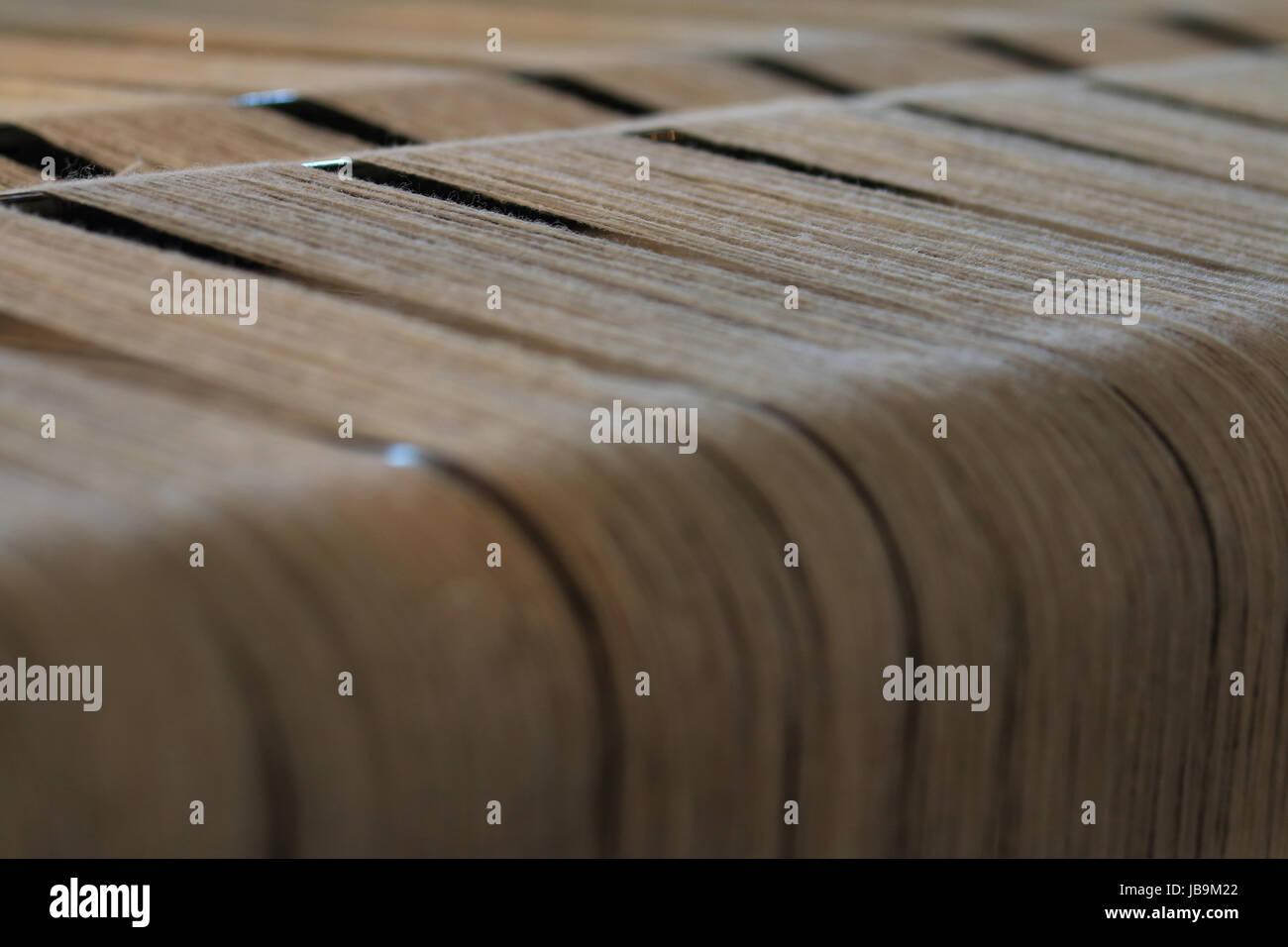 Nahaufnahme eines Webstuhls Stock Photo
