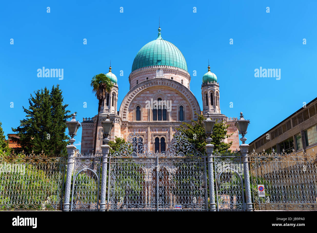 picture of the Great Synagogue in Florence, Italy Stock Photo