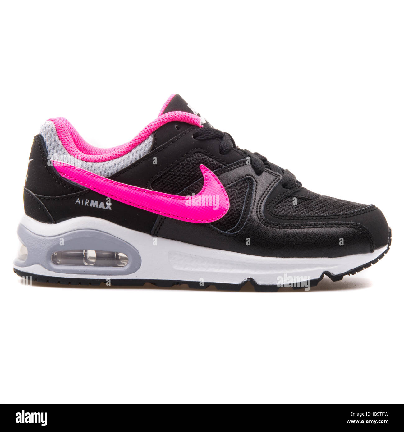 Nike Air Max Command (PS) Black and Pink Kids Sneakers
