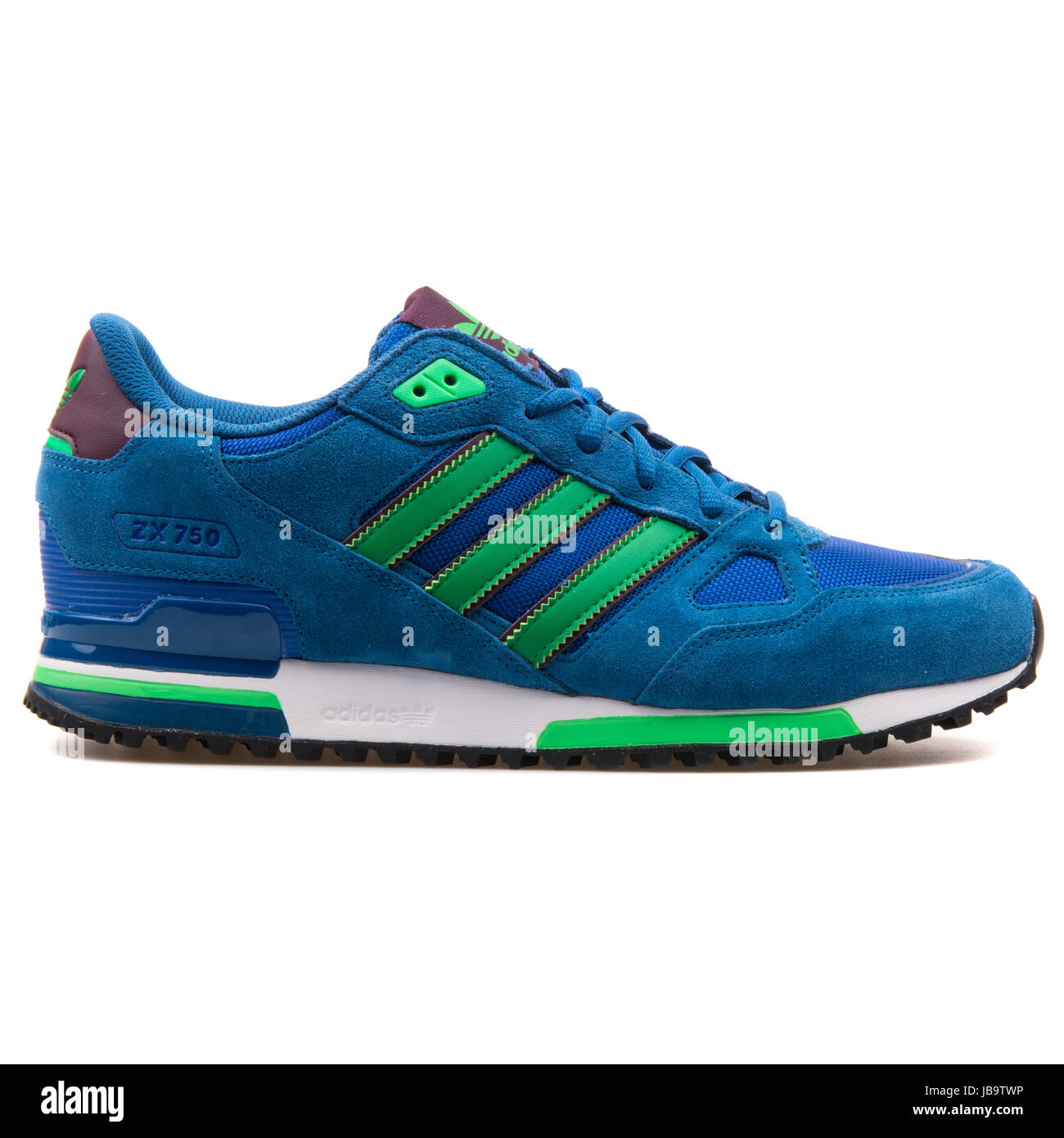 newest 129a9 0f0c7 Adidas ZX 750 Blue and Green Men's Sports Sneakers - B24857 ...