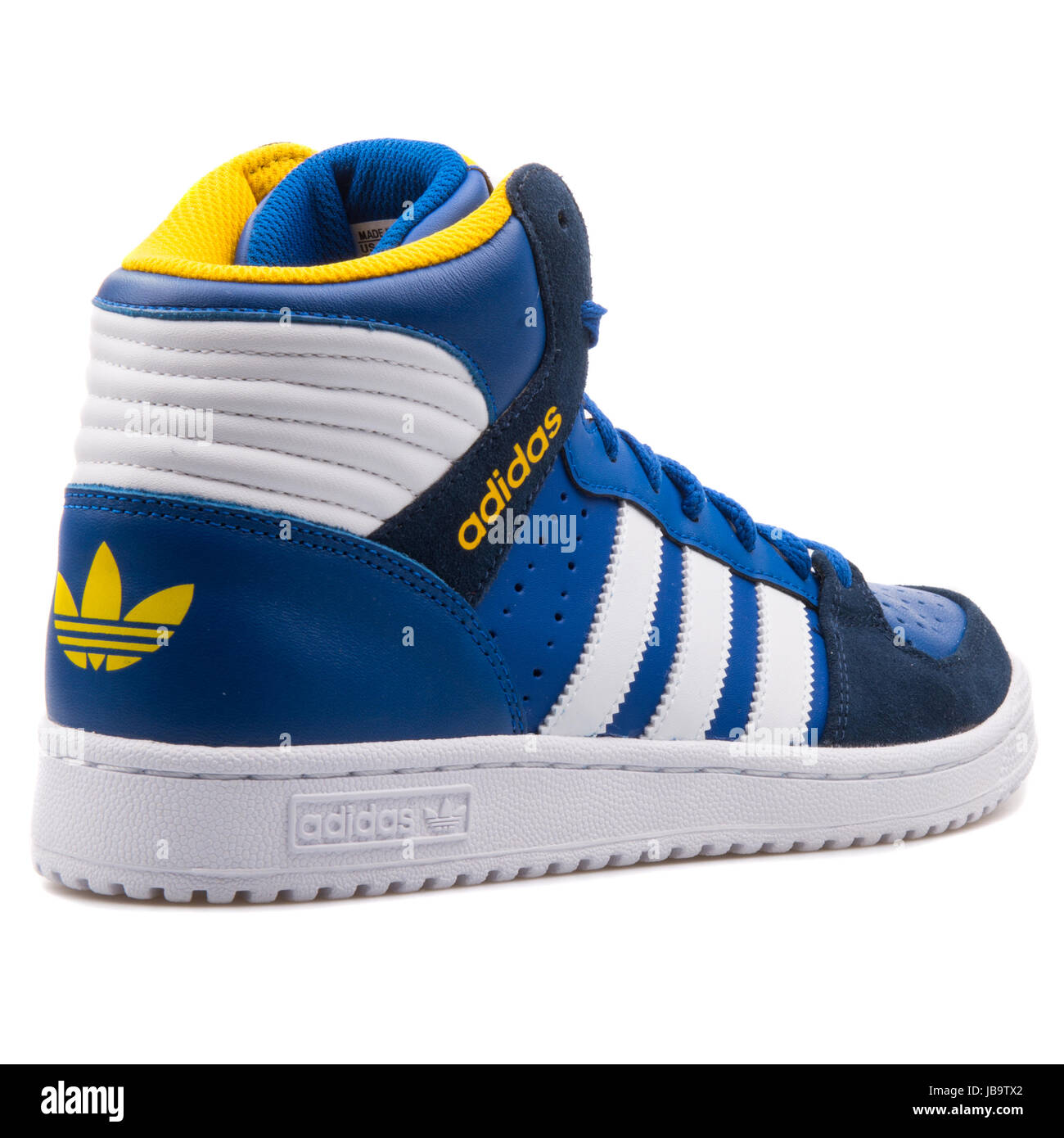 Adidas Pro Play 2 Blue, White and Yellow Men's Sports Sneakers