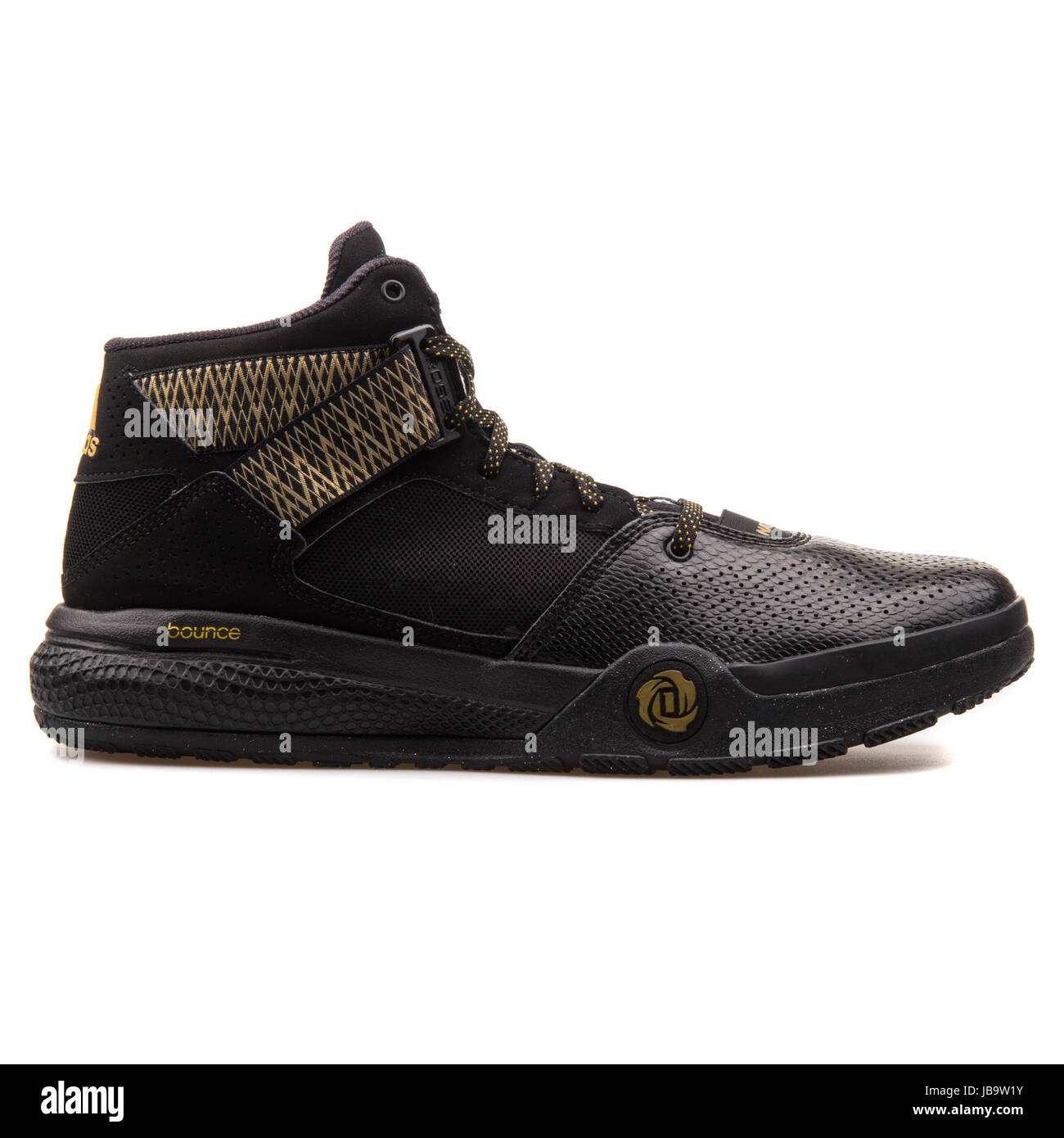 huge discount fd836 f31fd Adidas D Rose 773 IV Black and Gold Men s Basketball Shoes - D69592