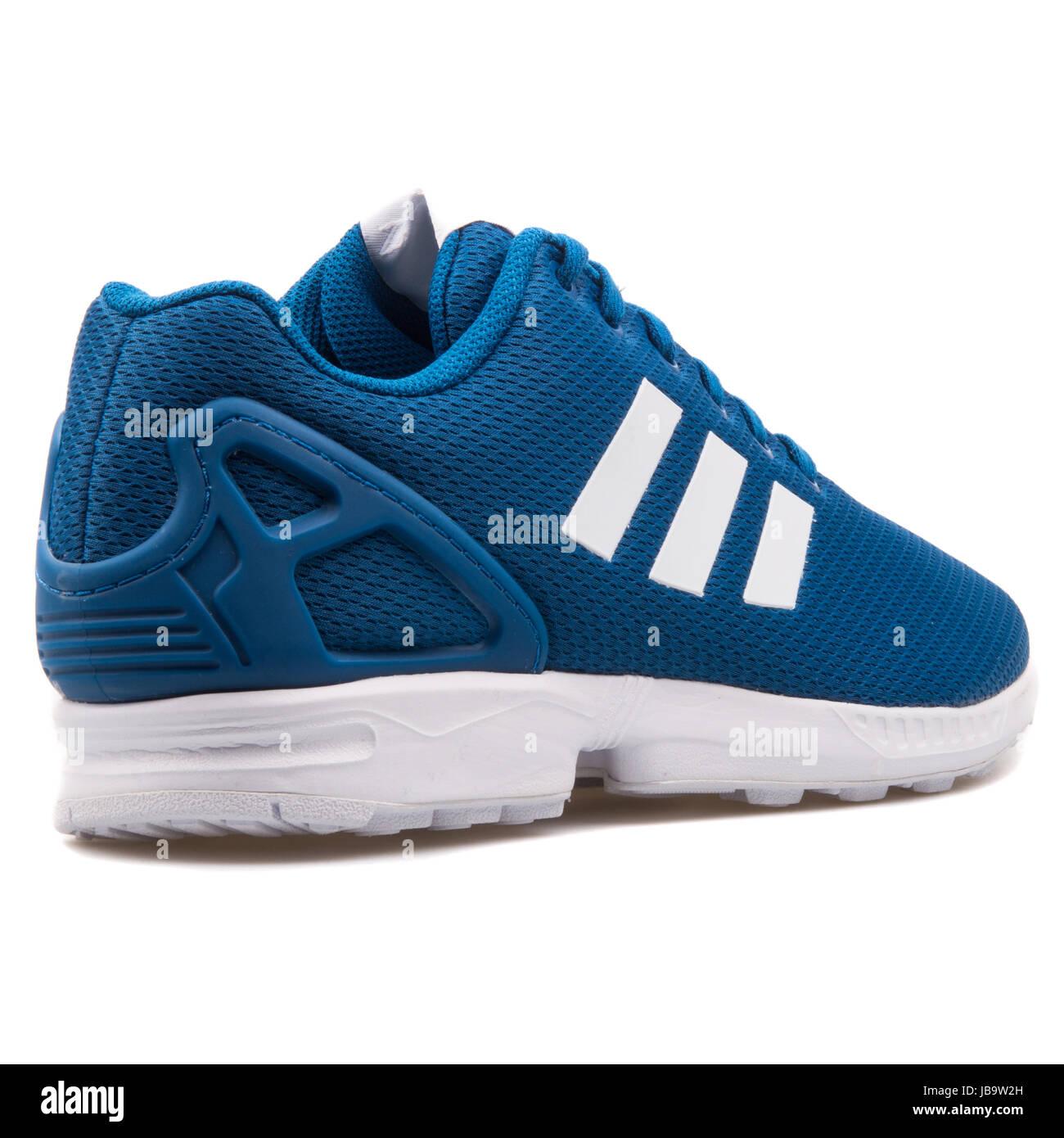 51c9525362c8e Adidas ZX Flux Blue Men s Running Shoes - AF6344 - Stock Image
