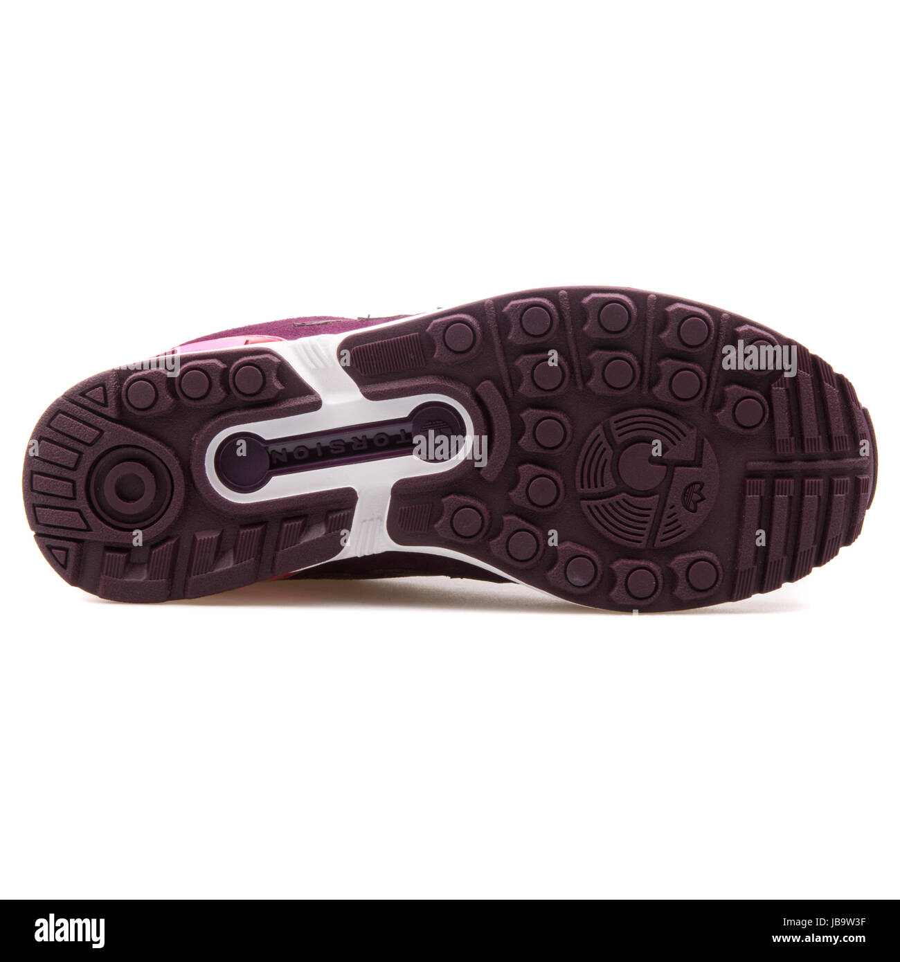 6a4943b61 Adidas ZX Flux W Merlot Women s Running Shoes - B35320 - Stock Image