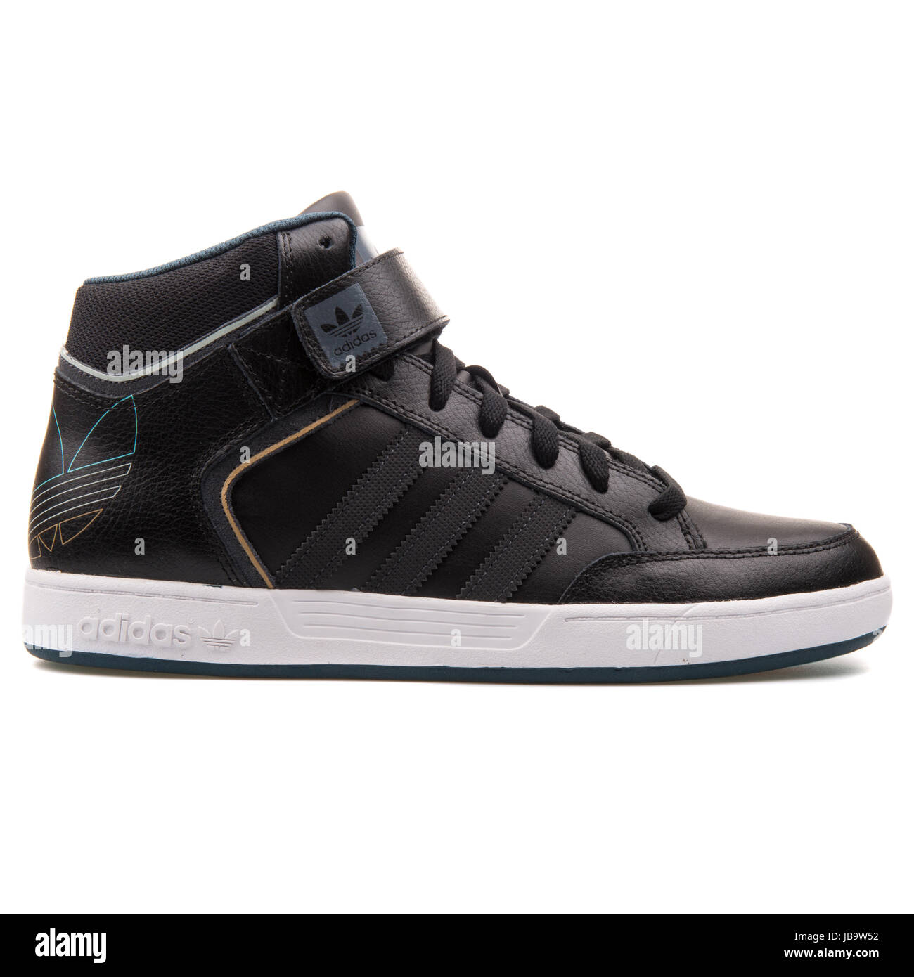 hot sale online 121fd 291c9 Adidas Varial Mid Black Leather Mens Basketball Shoes - D68664