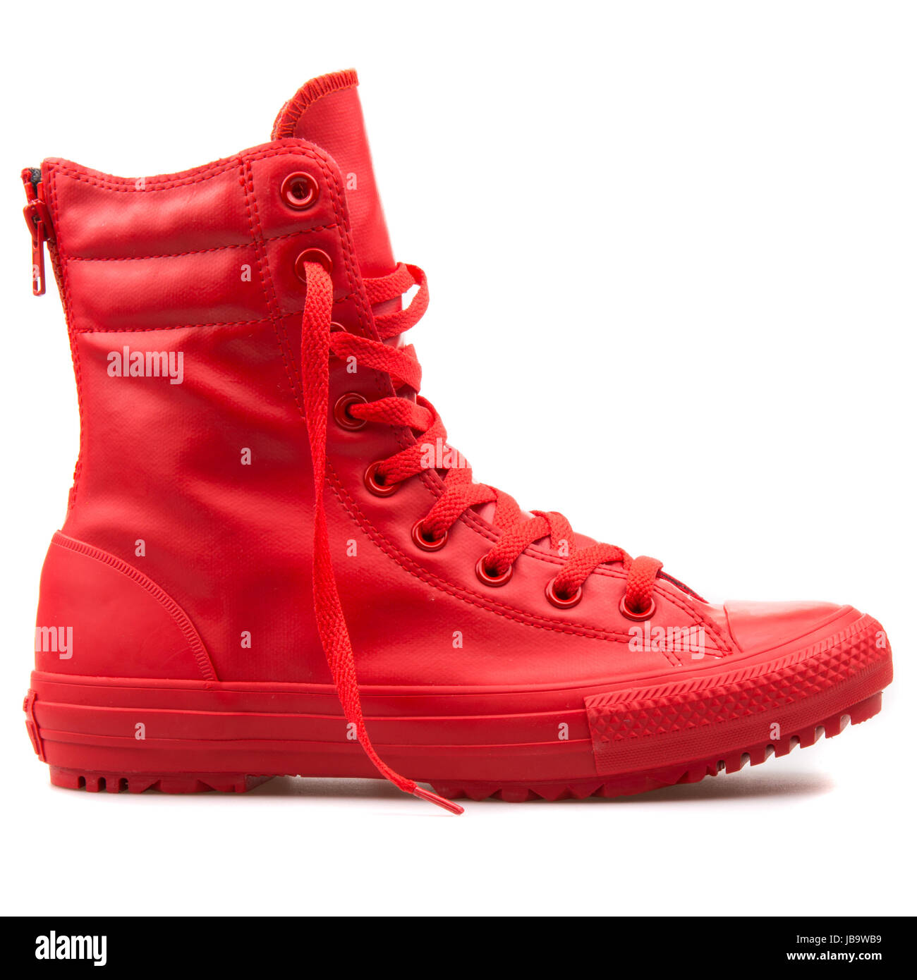 Converse Chuck Taylor All Star Hi-Rise Boot Red Women's Shoes - 549592C - Stock Image