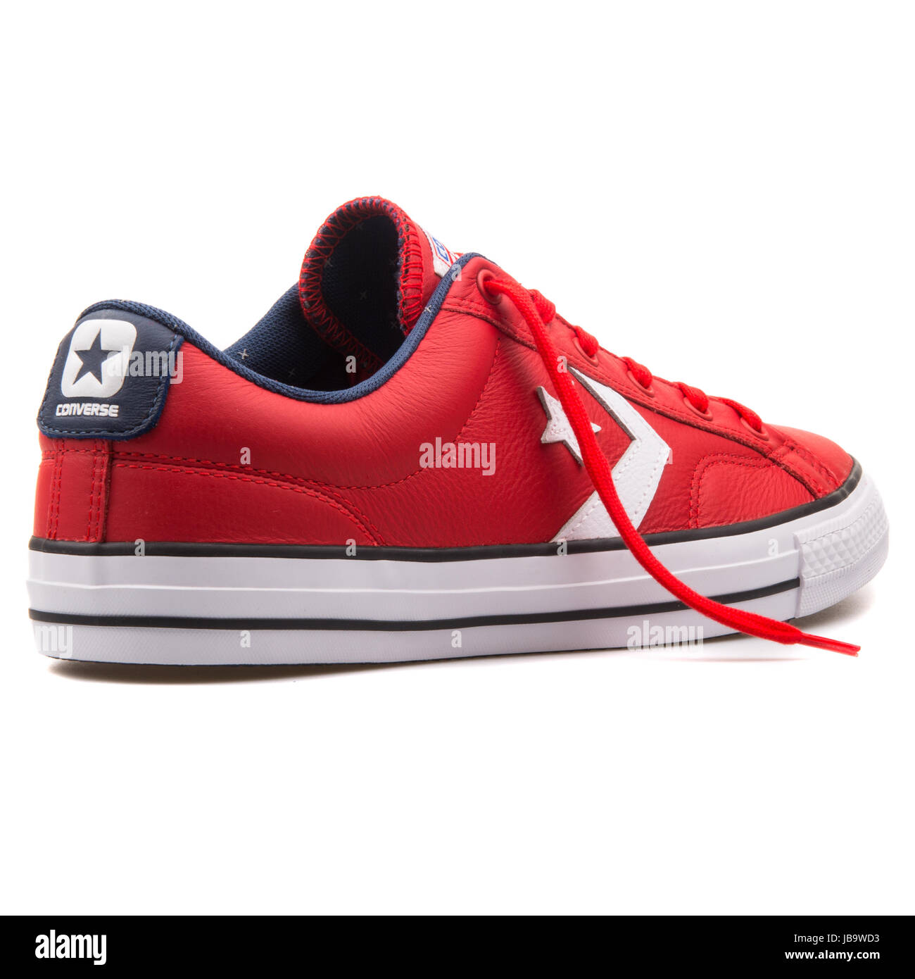 d42edd705012d9 Converse Chuck Taylor All Star Player OX Red Leather and Casino White  Unisex Shoes - 149770C