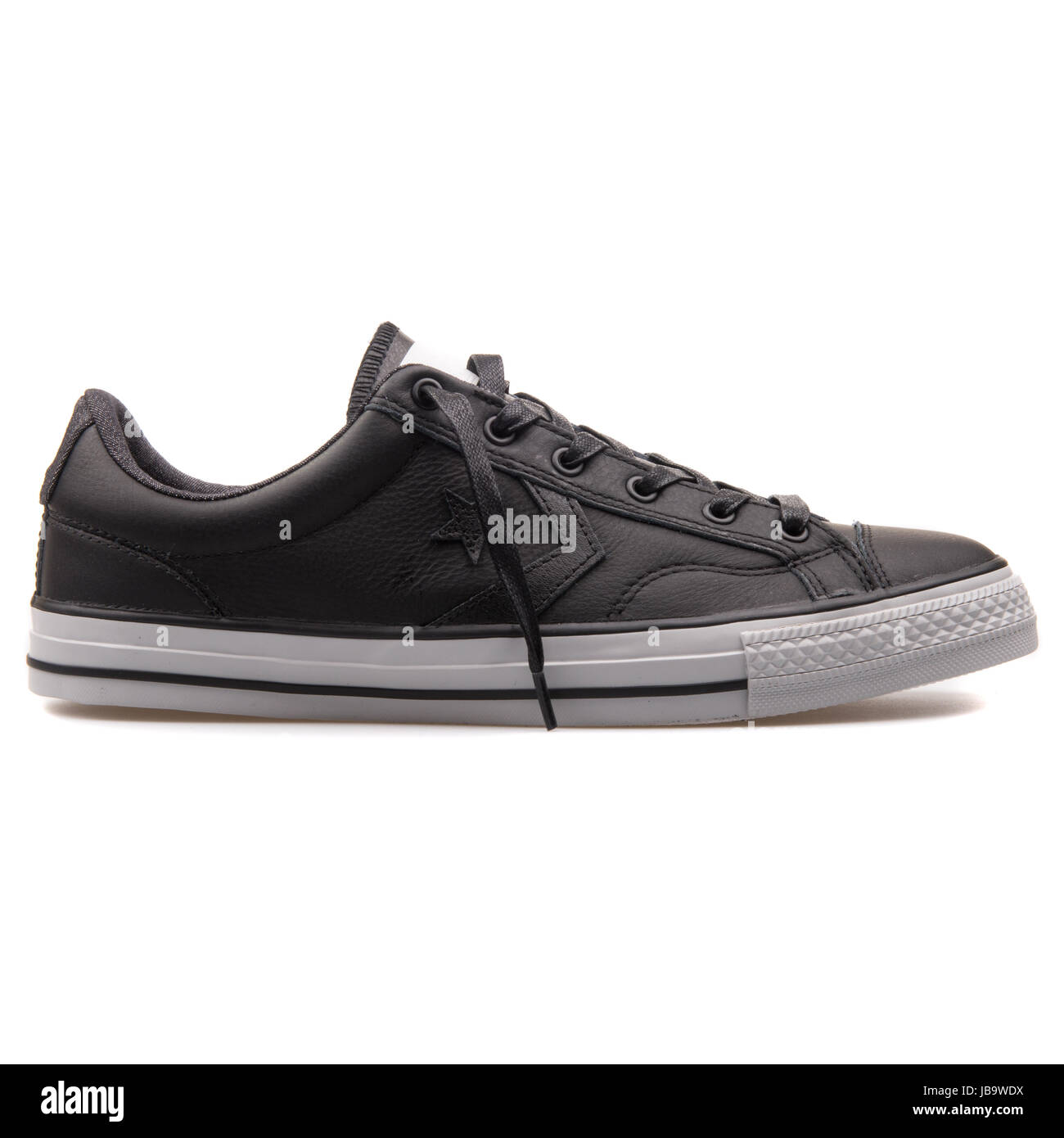 4cf594c70c2 Converse Chuck Taylor All Star Player OX Black Leather Unisex Shoes -  149765C - Stock Image