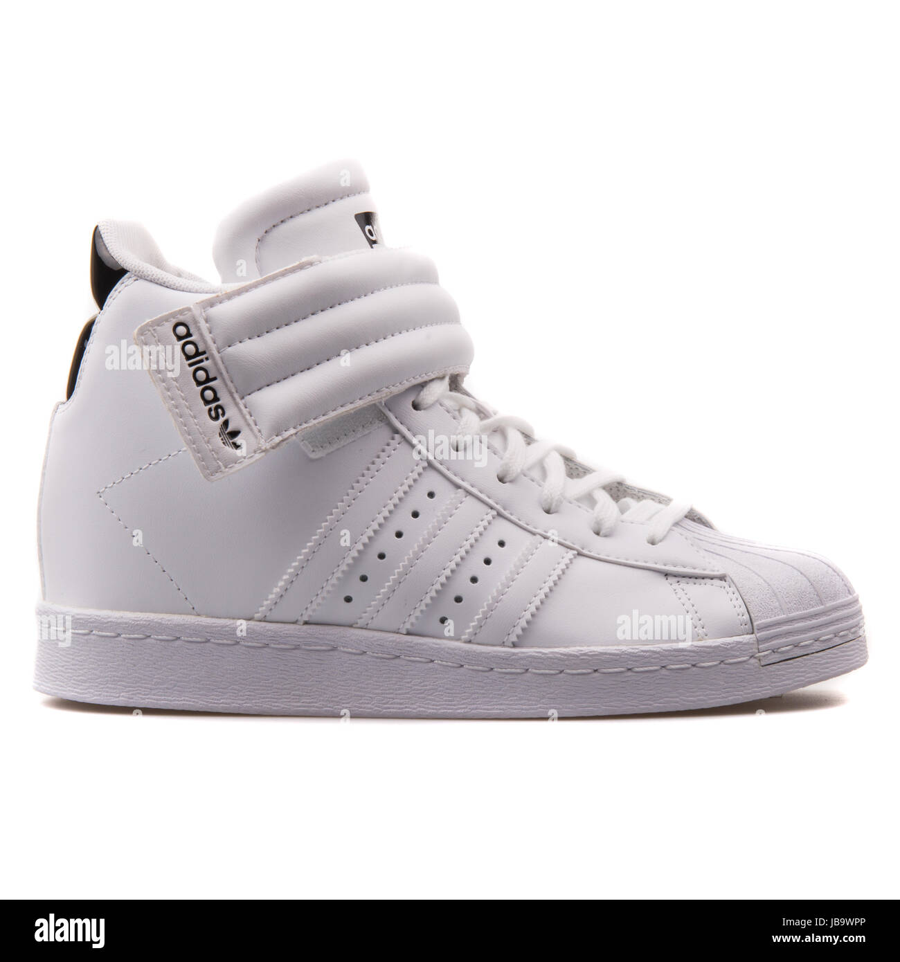 12d1b5b36992 Adidas Superstar UP Strap W White Women s Shoes - S81351 Stock Photo ...