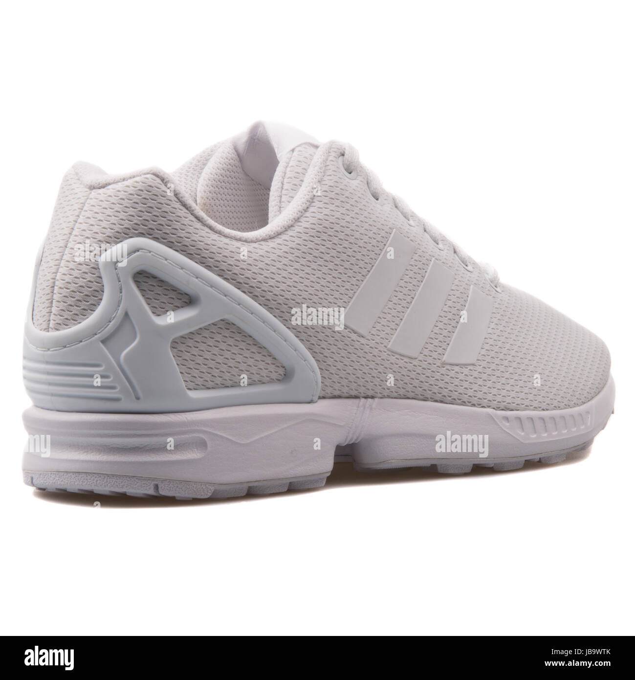 188e26526637e Adidas ZX Flux White Mesh Men s Running Shoes - AF6403 - Stock Image