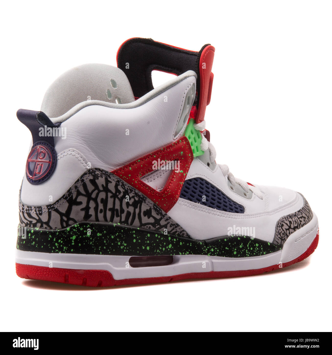 67c31aef370 Nike Jordan Spizike White, Black, Red and Neon Green Men's Basketball Shoes  - 315371-132