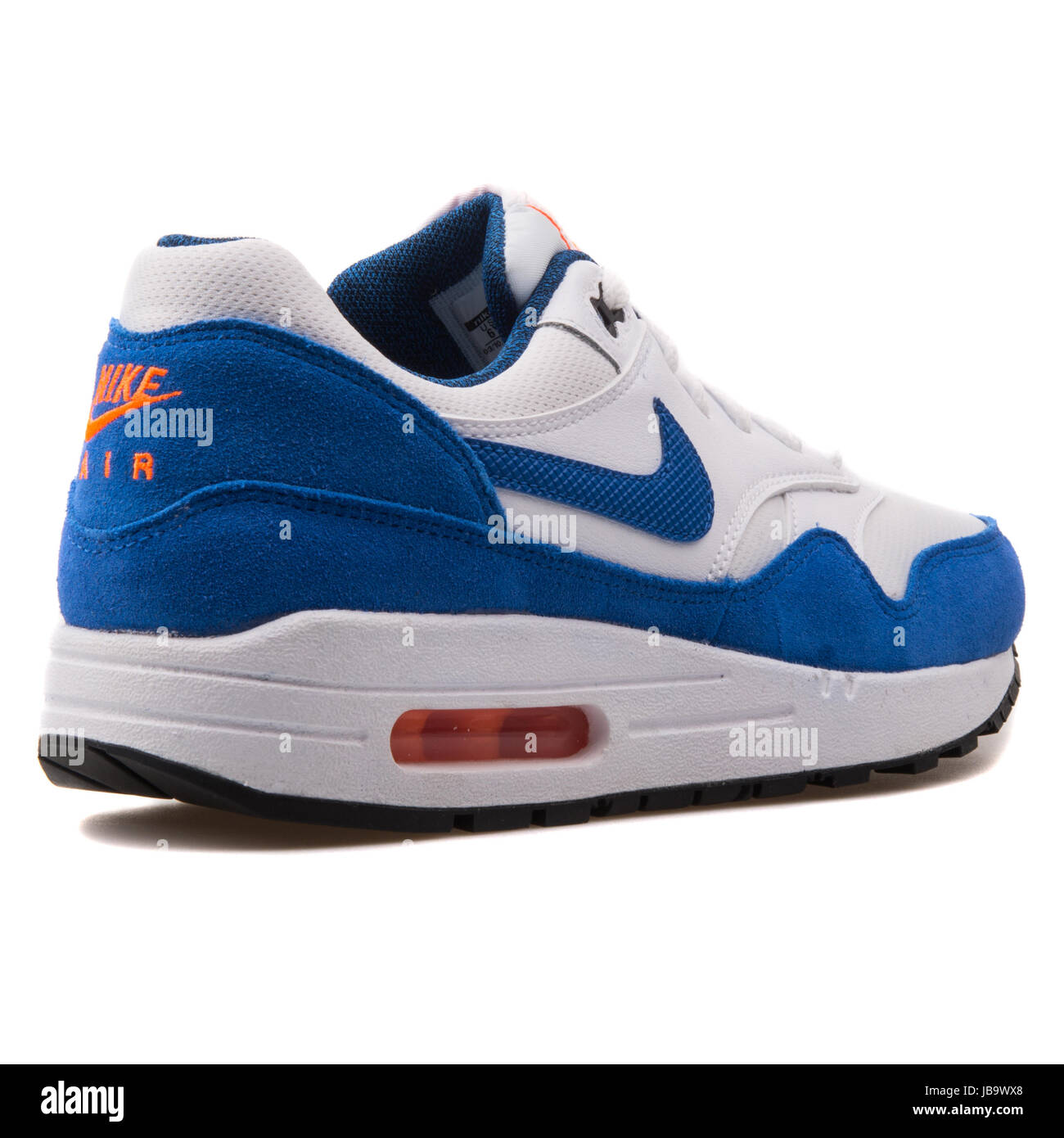 df8ec7b9 Nike Air Max 1 (GS) White and Blue Youth's Running Shoes - 555766-120