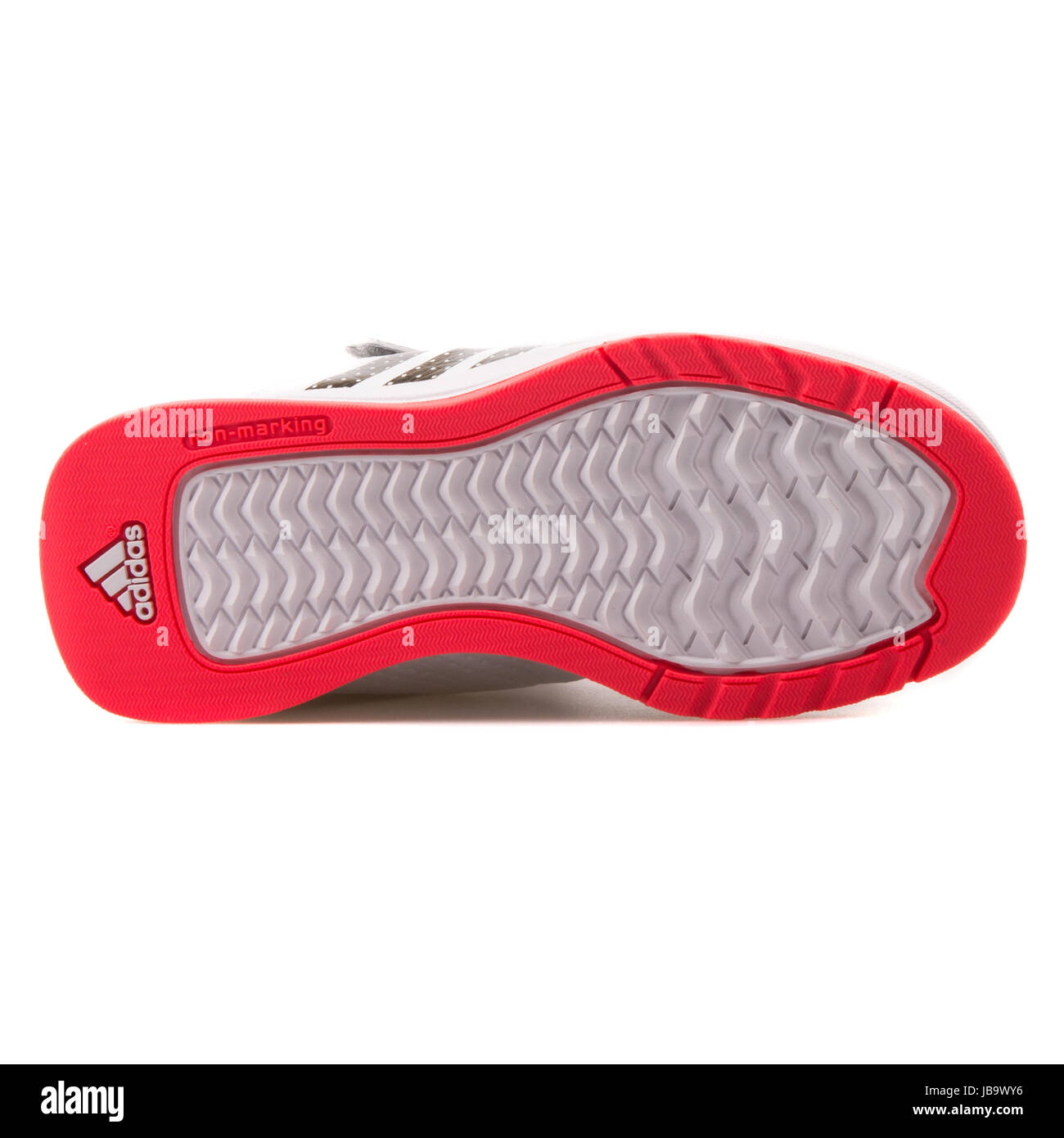 Adidas Jan BS 2 Mid C White, Grey and Red Kids Sports Shoes