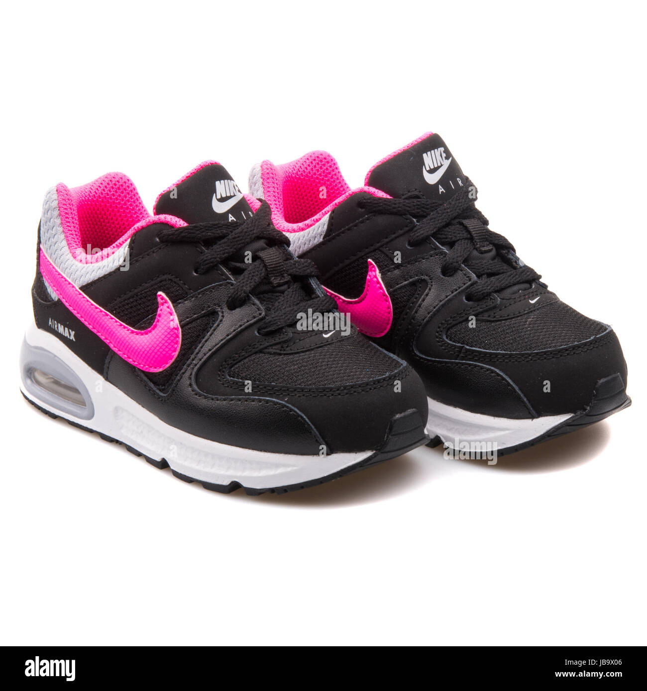 ae82994e78 Nike Air Max Command (TD) Black and Pink Kids Sports Sneakers - 412232-065