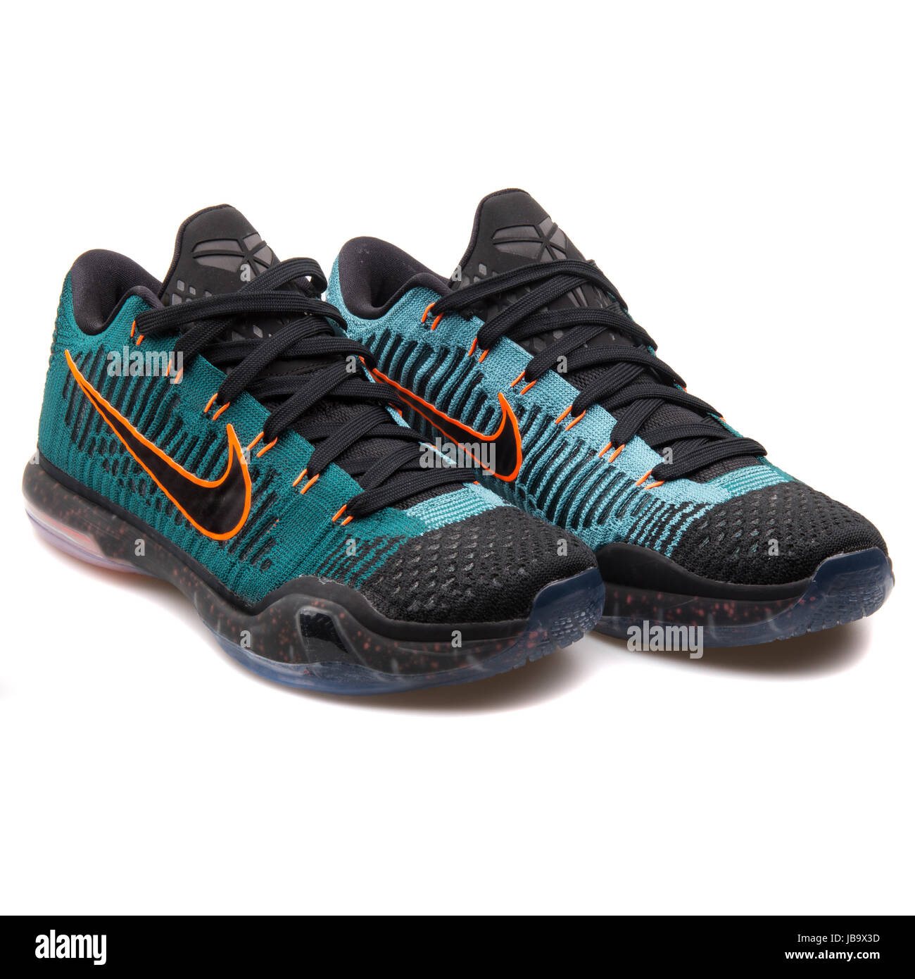 new concept 3e935 00219 Nike Kobe X Elite Low Black, Dark Green and Orange Mens Basketball Shoes -  747212-303
