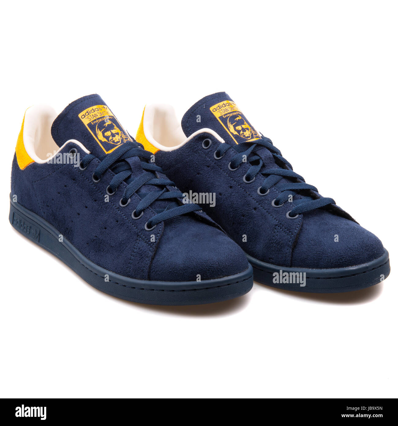 4052aa361da2 Adidas Stan Smith Navy Blue and Yellow Men s Sports Shoes - B24707 ...