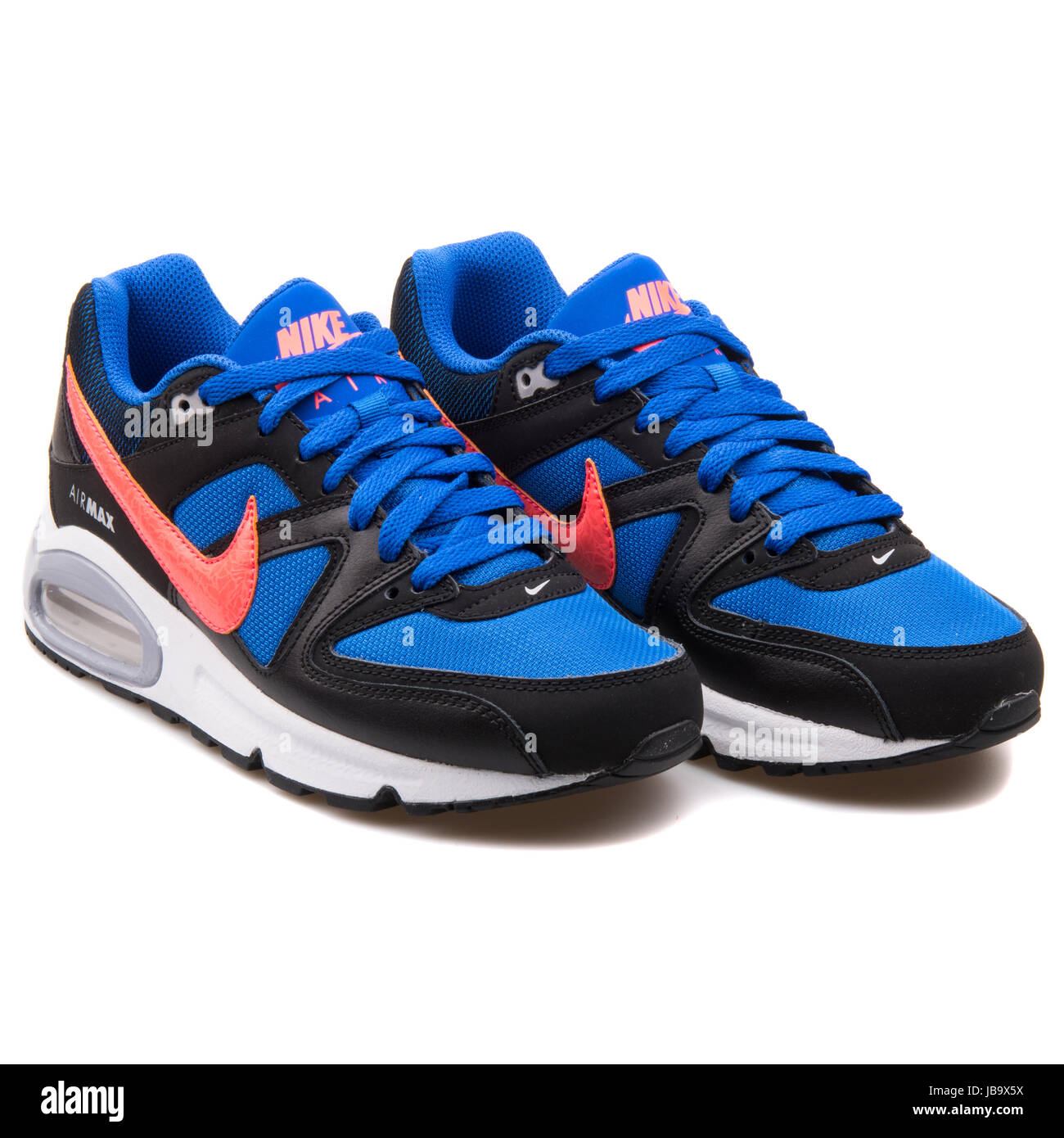 Nike Air Max Command (GS) Blue, Black and Red Youth's Running Shoes - 407759-480 - Stock Image