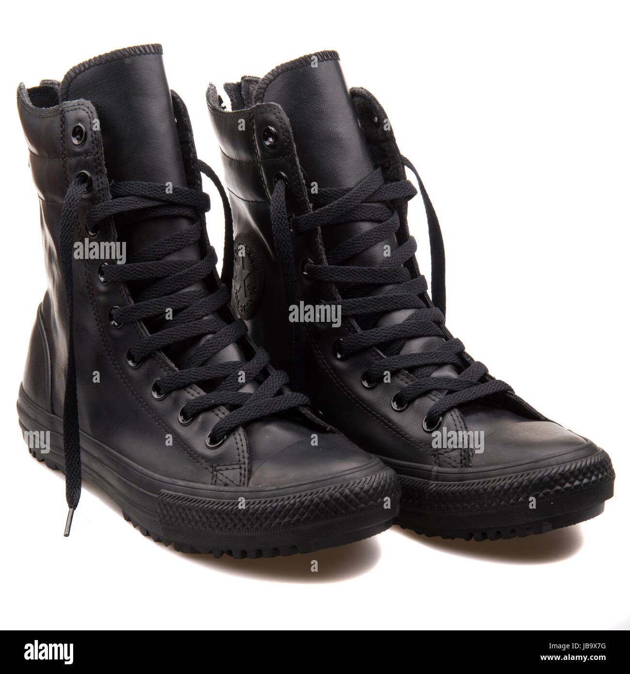 ee113ae331b77c Converse Chuck Taylor All Star Hi-Rise Boot Black Women s Shoes - 549591C -  Stock