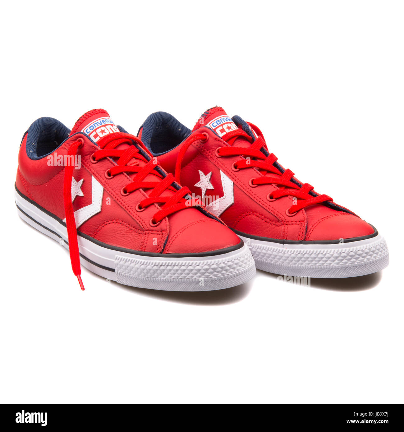 ff77a0c2db Converse Chuck Taylor All Star Player OX Red Leather and Casino White Unisex  Shoes - 149770C