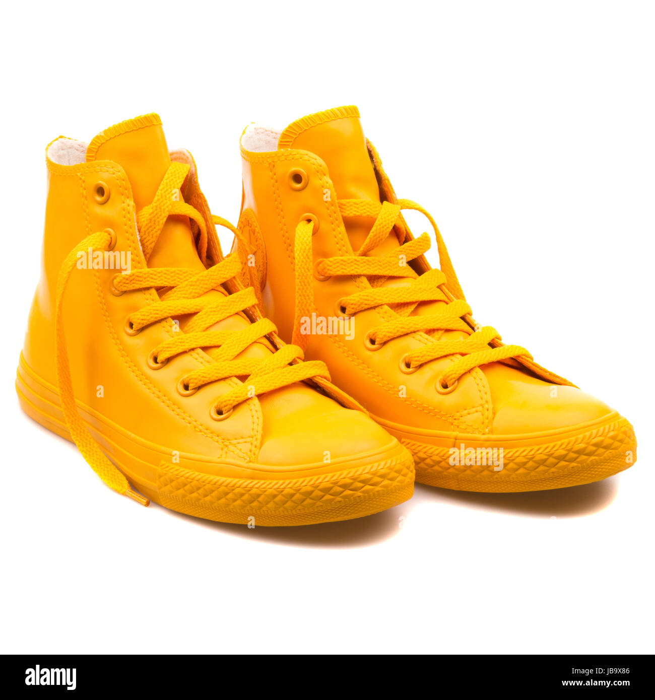 5c9419ef26af Converse Chuck Taylor All Star Hi Wild Honey Yellow Youth s Shoes - 344747C  - Stock Image