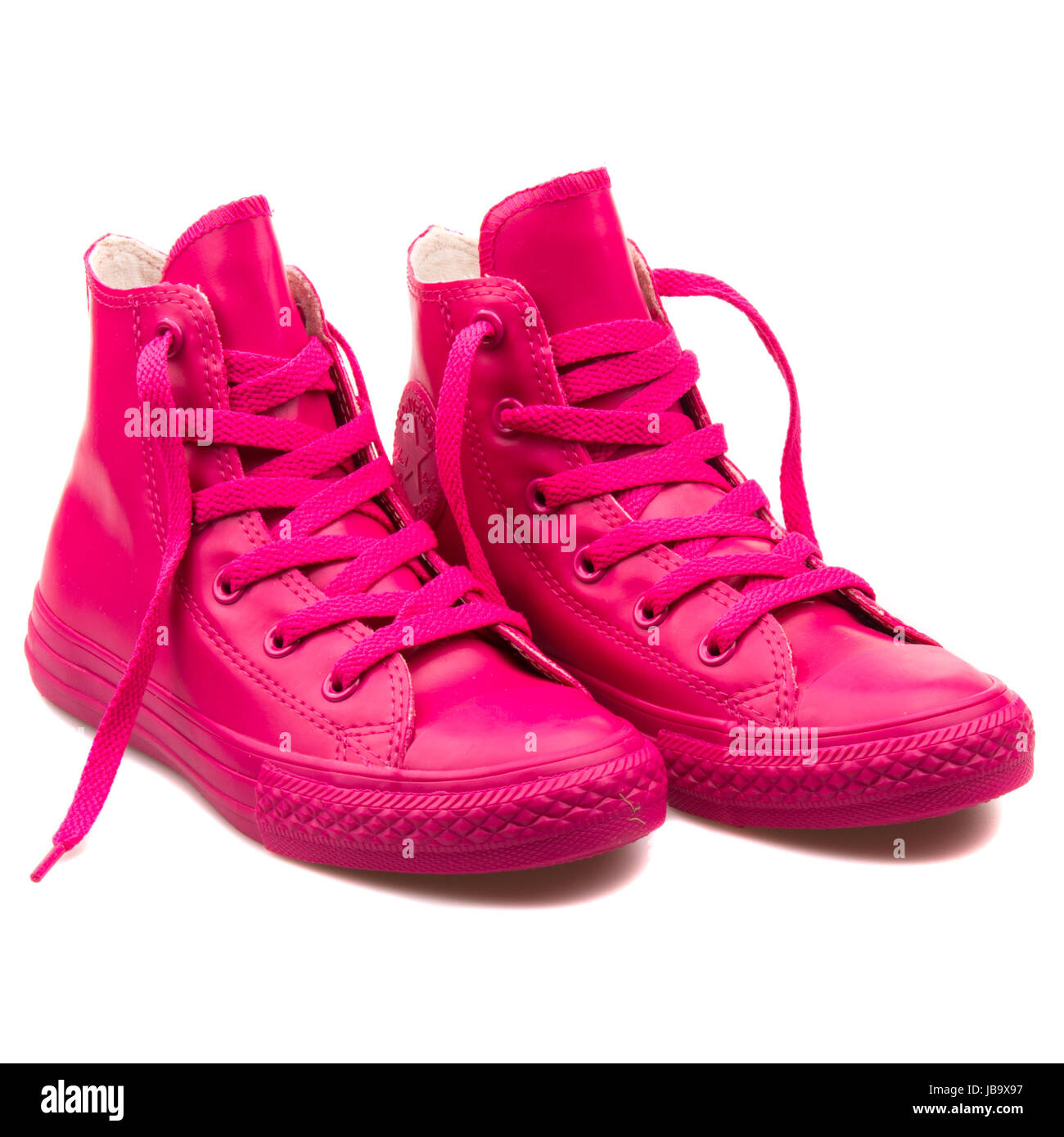 c6c6b4693ea1ad Converse Chuck Taylor All Star Hi Cosmos Pink Youth s Shoes - 345285C -  Stock Image