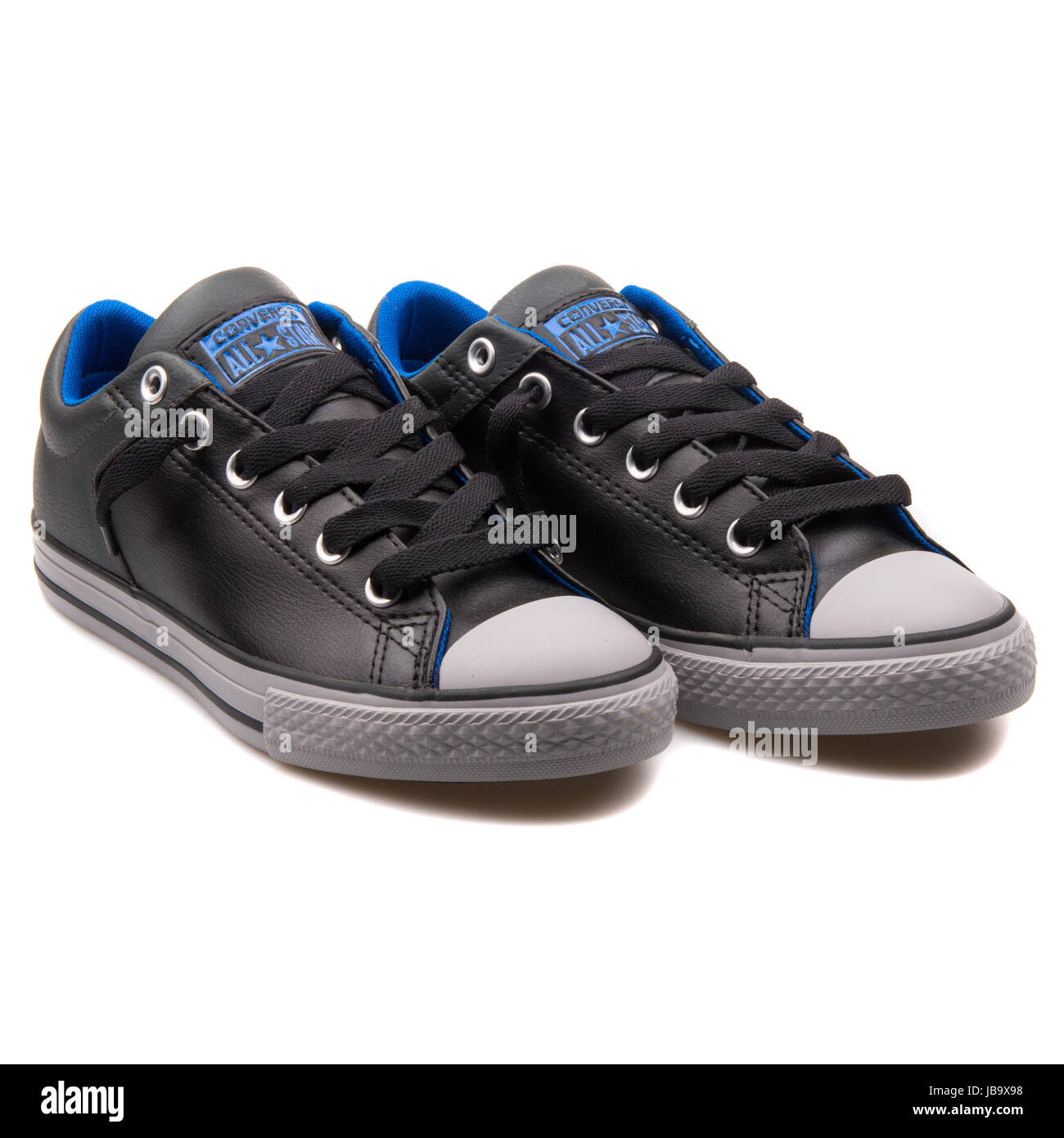 e14f74cfd5d Converse Chuck Taylor All Star High Street Black Storm Junior s Shoes -  650002C - Stock Image